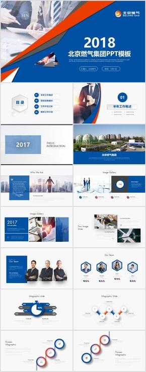 北京燃气集团商业计划书季度计划项目汇报PPT