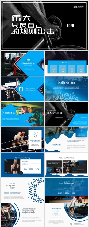 阿迪达斯运动品牌商业计划书ppt模板