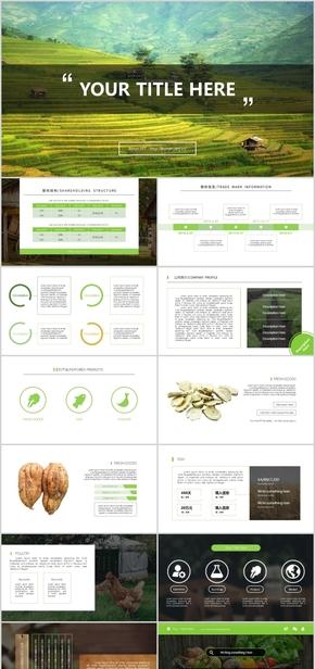 绿色清新自然环保商务产品PPT模板
