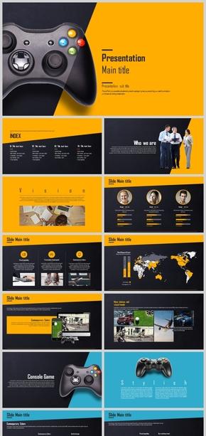 网络游戏公司介绍产品宣传项目介绍PPT模板