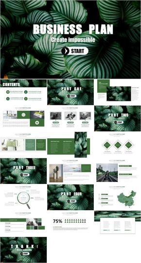 「Jc」热带风格清新自然工作汇报产品发布毕业设计汇报KEYNOTE模版
