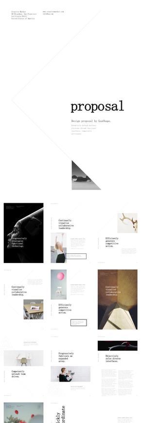 竖版白色简约摄影产品汇报展示KEYNOTE模版