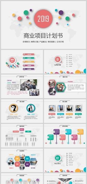 商业计划书、商业策划PPT模板