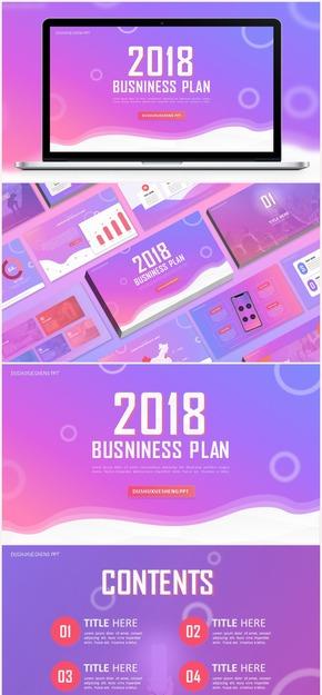 免费2018通用商务会议工作汇报总结PPT模板 最新 欧美 简约 小清新 年终 年中 年度 月度