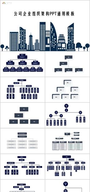 公司组织架构组织结构PPT通用图表
