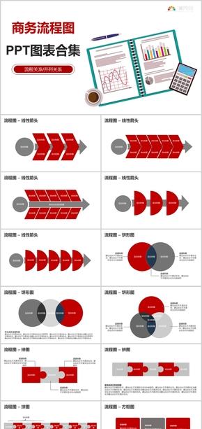 商务流程图PPT图表合集