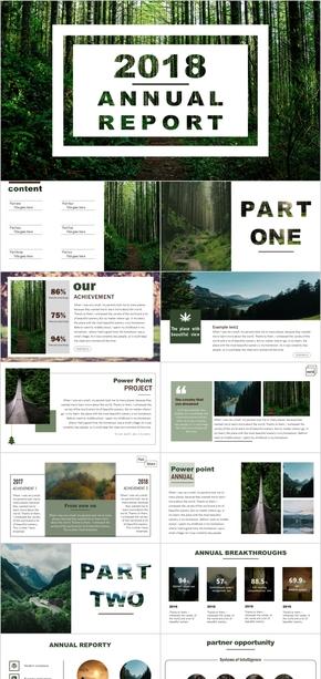 绿色环保工作PPT模板