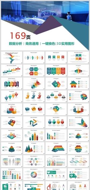 欧美高端商务数据图表大全