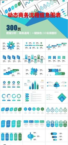 动态商务实用通用流程信息图表2