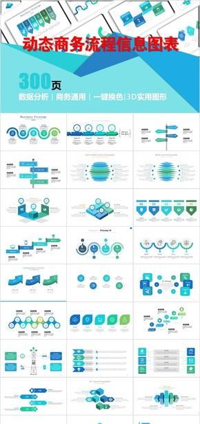 动态商务实用通用流程信息图表4