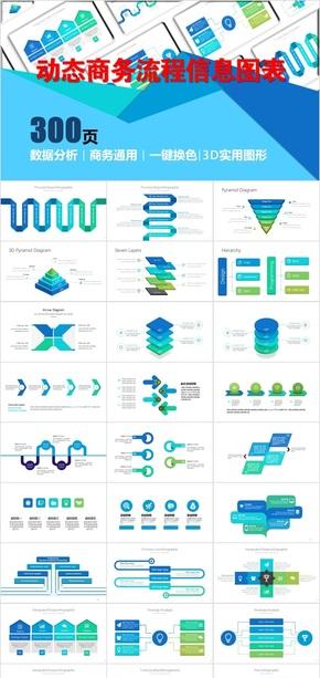 动态商务实用通用流程信息图表1