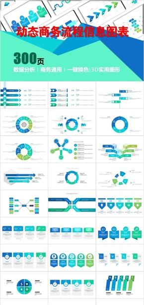 动态商务实用通用流程信息图表3