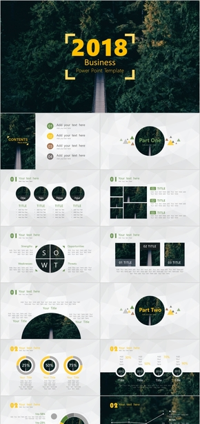 绿色 简约 环保 工作汇报 展示