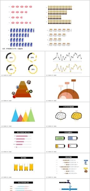 PPT创意数据图表合集