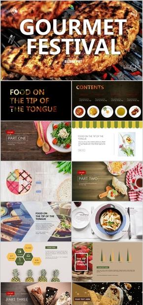 美食西餐欧美摄影PPT模板