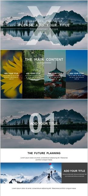 杂志风、欧美、简约风格旅游、旅行、画册、摄影、公司介绍、业务介绍PPT模版