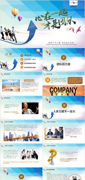 SOHO中国集团团队文化团队建设团队精神培训PPT模板