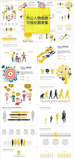 办公人物信息可视化PPT图表