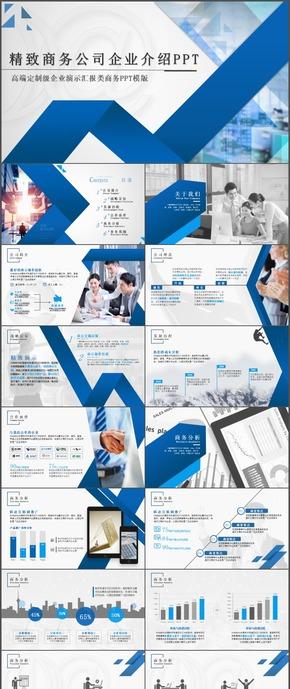 精致商务公司企业介绍公司简介PPT模板11