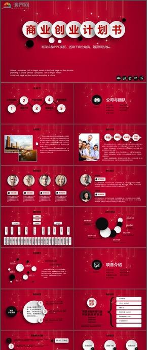 商业路演融资报告创业计划书团队管理PPT模板85