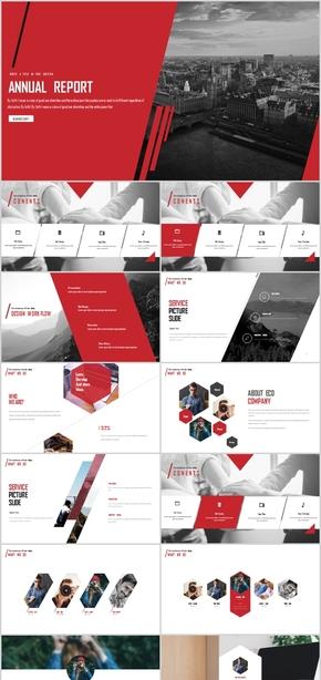 大气红色年终总结商业计划书汇报PPT模板