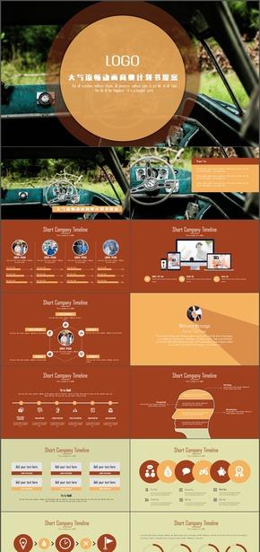 创意流畅动画商业创业计划书PPT模板