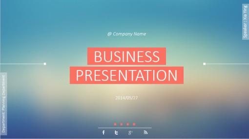 动态ui界面设计风格商务keynote模板3