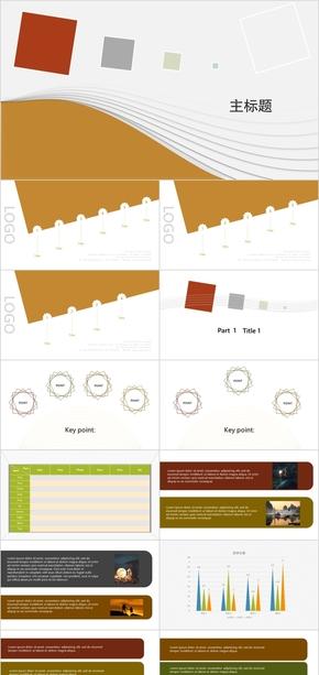 彩色 商务PPT模板