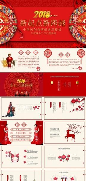 红色中国风ppt背景下载–演界网