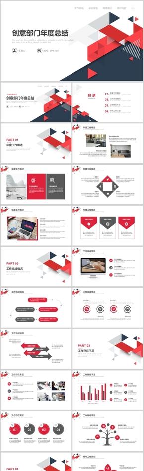 创意部门年度总结 工作总结 会议报告 商务展示 项目规划