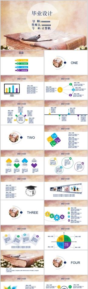毕业设计辩答PPT模板