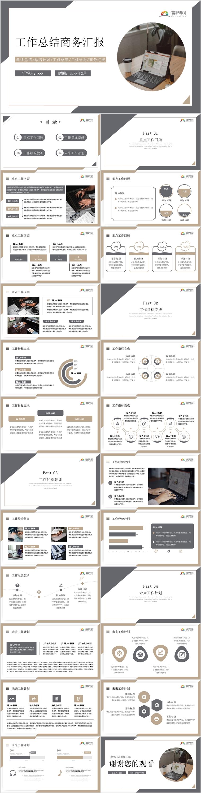 通用型商務工作匯報模板