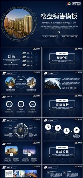 高端楼盘企业介绍动态模板