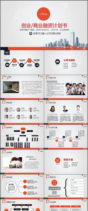 商业创业融资计划书时尚动态ppt模板28