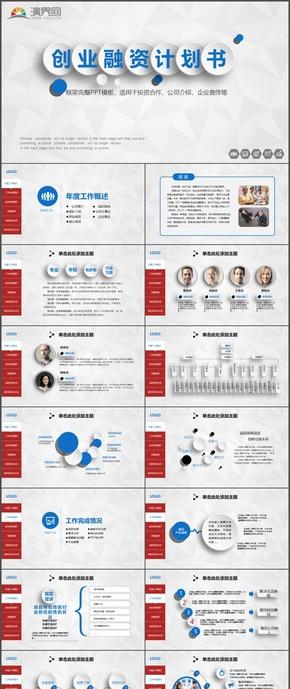 投资合作公司介绍企业宣传创业融资计划书PPT模板80