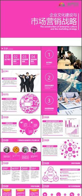 企业文化建设市场营销战略网络营销PPT模板110