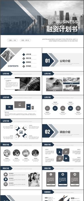 融资计划书公司项目规划ppt模板13