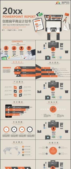 创业计划策划方案商业规划市场分析PPT模板87