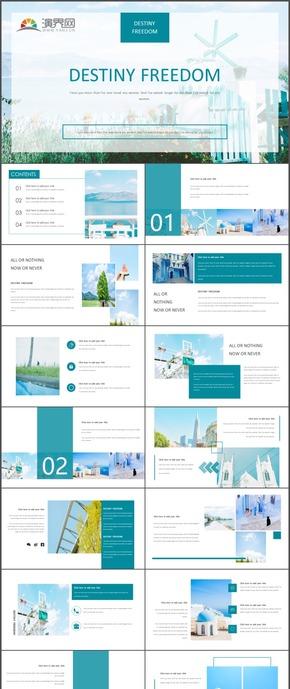 藍色商務報告工作計劃總結匯報報告PPT模板61