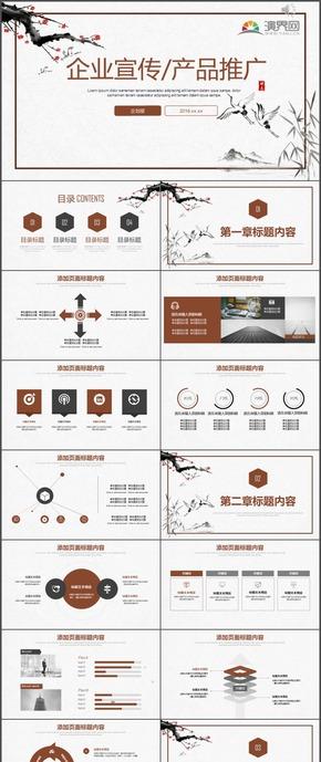 企业宣传产品推广企划部计划总结PPT模板96