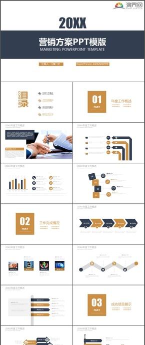 营销方案市场分析职场大气时尚动态PPT模板92