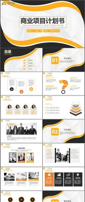 商业项目计划书项目管理计划总结PPT模板103