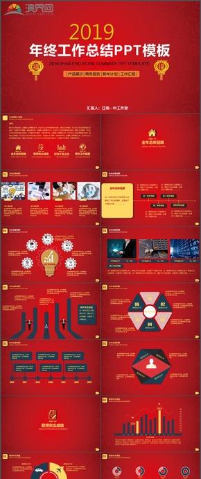 商务报告产品展示计划总结汇报PPT模板20