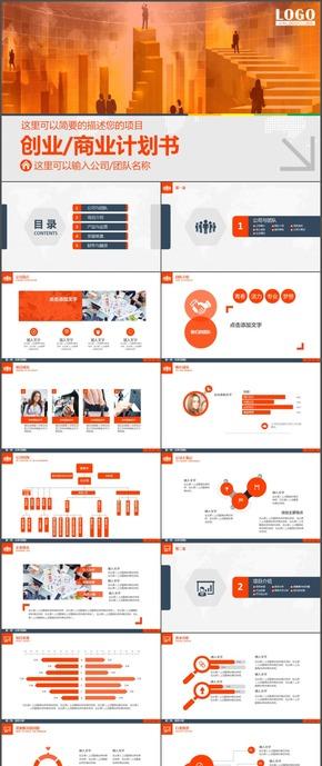 创业商业计划书时尚动态ppt模板27