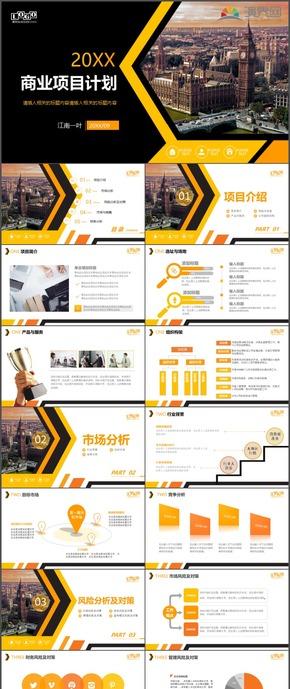 商业项目计划市场销售市场分析PPT模板109