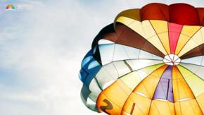 熱氣球背景圖