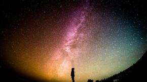 浩瀚星空照片PPT背景圖片