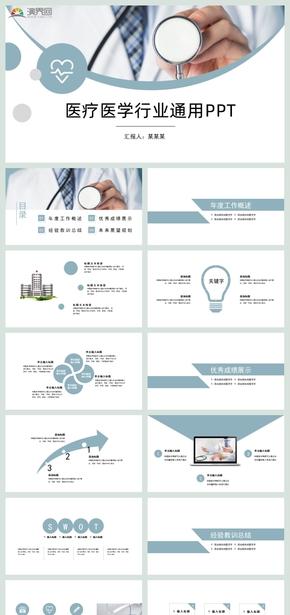 簡約風智慧醫療醫藥健康生態醫療醫院醫生醫療衛生系統PPT