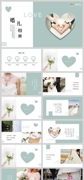 带情话内容小清新婚礼相册爱情告白PPT