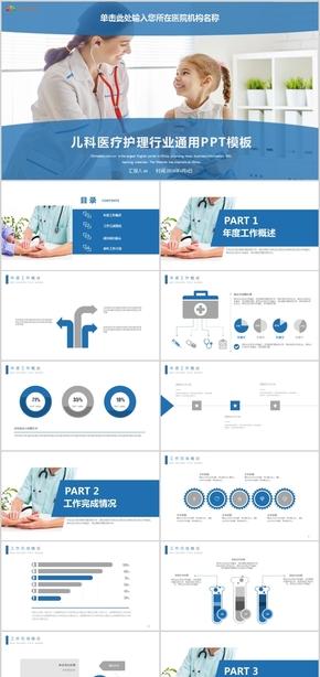 医疗医学儿科身心健康工作总结总结计划项目汇报医学宣传动态ppt模板